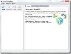 Ventana principal de VirtualBox