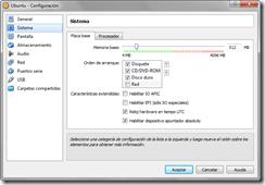 Configuración: Sistema - Orden de arranque