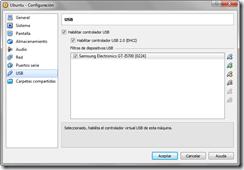 Configuración - Dispositivo USB agregado