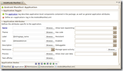 Manifiesto - Atributos de la aplicación