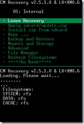 Recovery Cyanogen