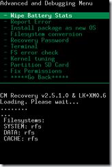 Recovery Cyanogen - Advanced