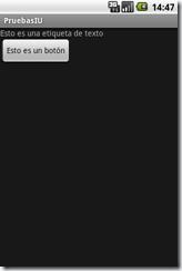 Interfaz de usuario en Android 1.5