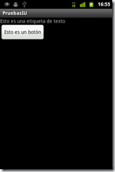 Interfaz de usuario en Android 2.3