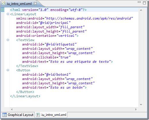 Ejemplo de diseño en XML