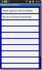 ScrollView y HorizontalScrollView - Parte superior